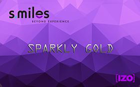 Tarjeta Sparkly Gold